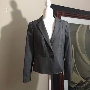 NWT Ann Taylor Brown Tweed Suit Blazer Size 12